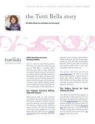 the Tutti Bella story