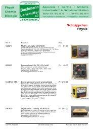 Physik Restposten | Bachmann Lehrmittel