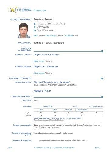 Curriculum Semen Bogatyrev