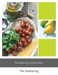The Gathering Catering Guide_Fall 2016