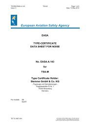European Aviation Safety Agency EASA TYPE-CERTIFICATE DATA ...