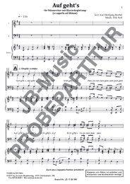 Auf gehts (für Männerchor TTBB + Klavierbegleitung)