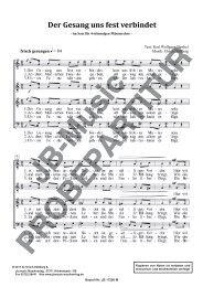 Der Gesang uns fest verbindet  (für Männerchor TTBB)