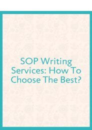 SOP Writing Services: How to Choose the Best?