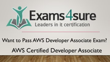 AWS Developer Associate Exam Dumps