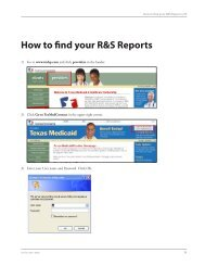 How to find your R&S Reports - TMHP