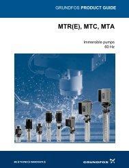 MTR(E), MTC, MTA - Grundfos