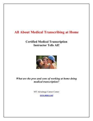 medical transcription certificate career description medical