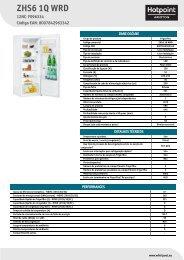 KitchenAid ZHS6 1Q WRD - ZHS6 1Q WRD PT (F096334) Product data sheet