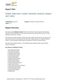 24 Market Reports: Global Induction Cooker Detailed Analysis Report 2017-2022