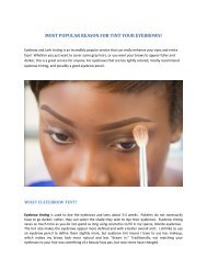 MOST POPULAR REASON FOR TINT YOUR EYEBROWS!