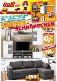 Sommer-Schnäppchen beim Rolli SB-Möbelmarkt in 65604 Elz!