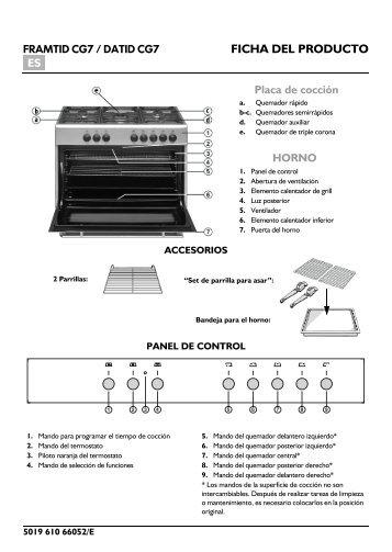 KitchenAid 50142380 PRO D10 AN - 50142380 PRO D10 AN ES (852340015000) Scheda programmi