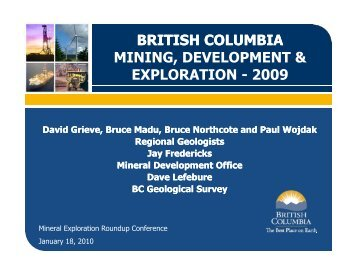 british columbia mining, development & exploration - 2009