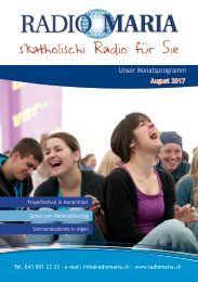Radio Maria Schweiz - August 2017