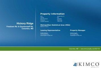 Hickory Ridge - Kimco Realty Corporation