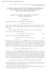 OPTIMAL REGULARITY AND FREDHOLM PROPERTIES OF ...