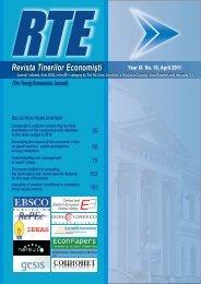 Revista Tinerilor Economiºti (The Young Economists Journal)