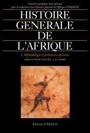 Histoire Générale de l'Afrique Vol 1
