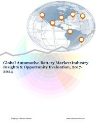 Global Automotive Battery Market (2017-2024)- Research Nester