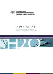 Water Made Clear - National Health and Medical Research Council