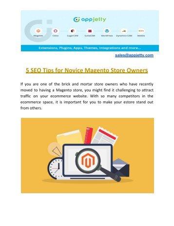 5 SEO Tips for Novice Magento Store Owners