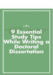 9 Essential Study Tips While Writing a Doctoral Dissertation