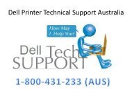 Call 1-800-431-233 Dell Printer Technical Support Australia