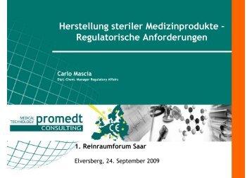 Herstellung steriler Medizinprodukte - ZPT