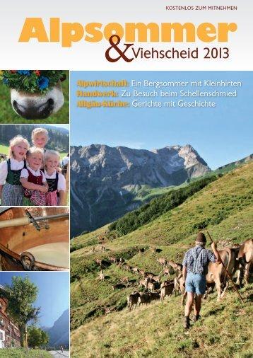 Alpsommer&Viehscheid 2013
