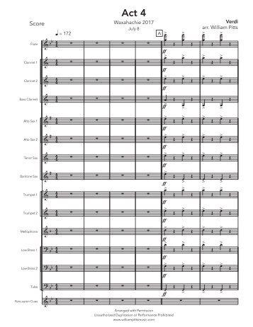 Waxahachie 2017 - Act 4 (July 8) - Score