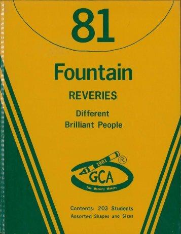 Georgia-Cumberland Academy - Fountain Reveries - 1981