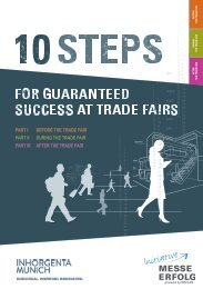 INHORGENTA MUNICH 2018 // 10 steps for guaranteed success at trade fairs
