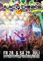 Juicy Beats Festival 2017 - Programmheft