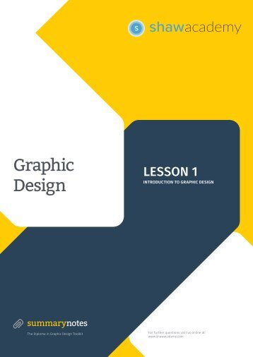 GD Toolkit Summary Notes - Lesson 1