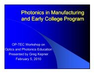 Photonics in Manufacturing Photonics in Manufacturing and Early ...