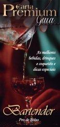 Guia Bartender Pro de Bolso - Carta Premium