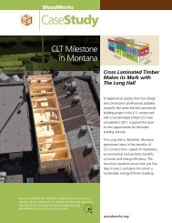 Cross Laminated Timber Makes its Mark with The ... - WoodWorks