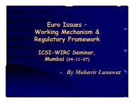 Euro Issues – Working Mechanism & Regulatory ... - Mahavir Lunawat