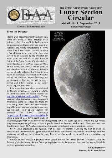 Vol 49, No 9, Sep 2012 - Lunar Section