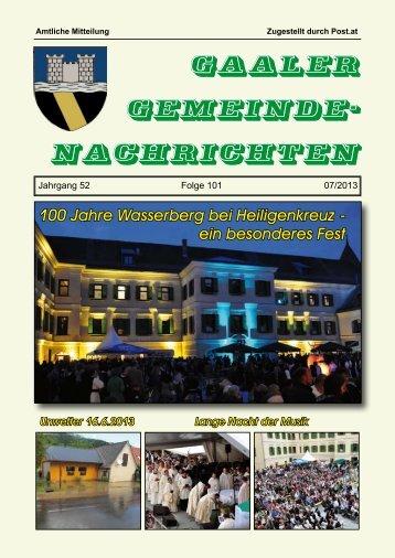 Gemeindezeitung 07/2013
