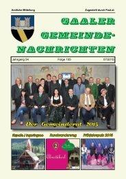 Gemeindezeitung 07/2015