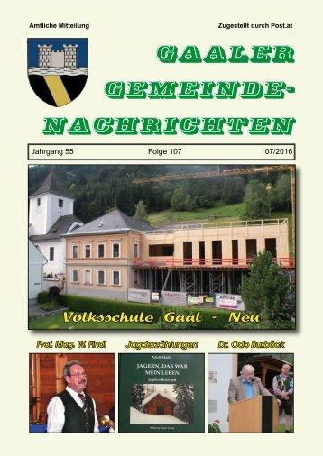 Gemeindezeitung 07/2016