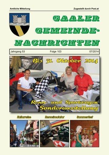 Gemeindezeitung 07/2014