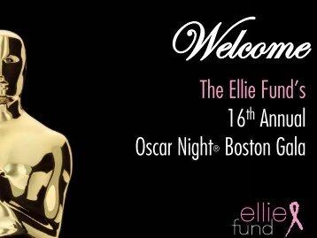 The Ellie Fund's 16th Annual Oscar Night® Boston Gala