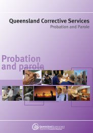 Probation and parole - Queensland Corrective Services