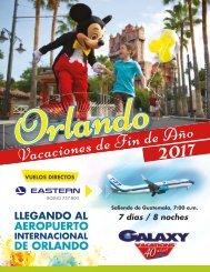 Folleto Vacaciones Charters a Orlando Fin de Año 2017