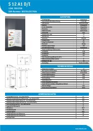 KitchenAid S 12 A1 D/I - S 12 A1 D/I DE (F093708) Product data sheet