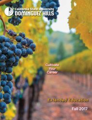 Fall 2017 CSUDH Extended Education Catalog