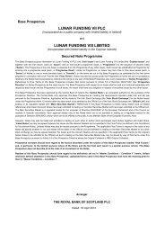 lunar funding vii plc lunar funding viii limited - Irish Stock Exchange